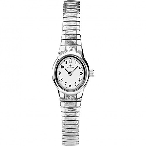 Accurist Ladies Dress Watch With Expanding Stainless Steel Bracelet 8112