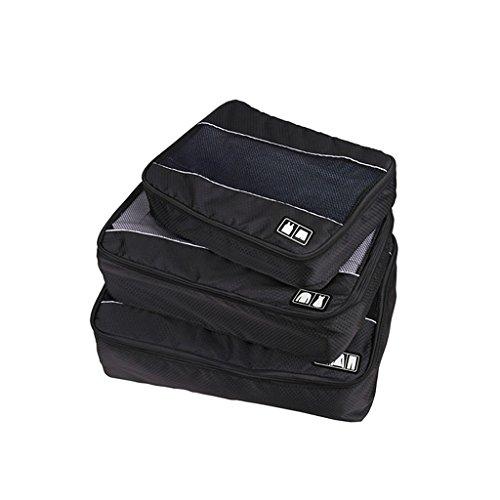 Kit de 3pcs Sac Pochette Zip Voyage Maille Stockage Porte Organisateur
