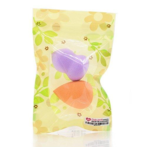 Dolovemk 2 pcs/lot Petite taille Makeup Sponge blender Fond de teint doux Mélange Puffs Poudre Beauté Œuf, 10 G Poids, 4.6 cm de hauteur