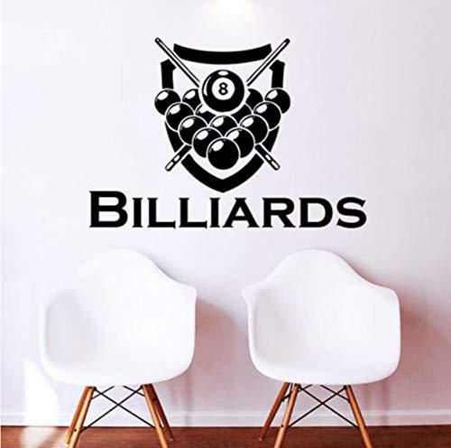 AIPIOR Billard Wandtattoos Aufkleber Poster Vinyl Fit Wandtattoos Dekor Wandbild Billard Aufkleber 40x58cm