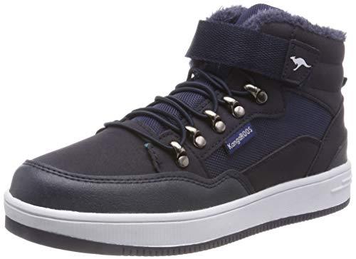 KangaROOS Unisex-Kinder Kerry Hohe Sneaker, Blau (Dk Navy), 40 EU