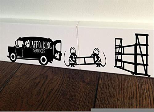 stickers muraux miroir pas cher Échafaudage Van Builder Digger Digg