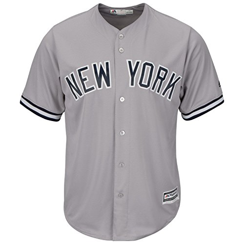 Majestic New York Yankees Cool Base MLB Trikot Road Grau M
