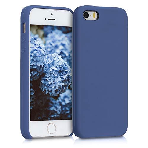 kwmobile Apple iPhone SE / 5 / 5S Hülle - Handyhülle für Apple iPhone SE / 5 / 5S - Handy Case in Kornblumenblau 5 Silikon Silicon Case