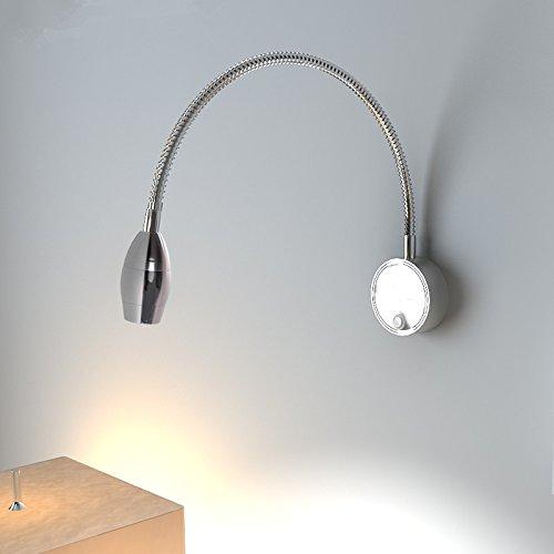 Aluminium 1 Leichte Schwenkarm Wandleuchte Wand Beleuchtung AC von 85 bis 265V3W 360 Grad Flexible Wandleuchte Leselampe lampe Geschenk für Weihnachten Danksagung neues Jahr home Dekoration Geburtstag