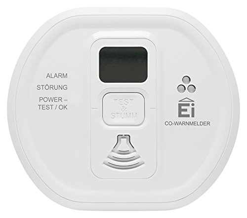 Ei Electronics Professional EI208IDW-3XD i-Serie Kohlenmonoxidwarnmelder mit LCD-Display und fest eingebauter 10-Jahres-Lithiumb. funkvernetzbar mit Funkmodul Ei200MRF, 3 V, weiß