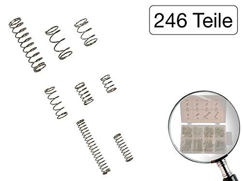 246 tlg Sortiment Druckfedern Federstahl verzinkt