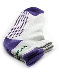 Nouveau chaussette antidérapant exercice de yoga professionnelle pour les femmes Purple
