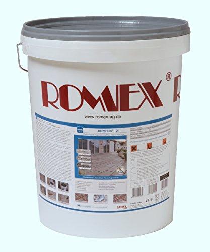 Rompox D1, Pflasterfugenmörtel 2-K, 25 kg Eimer, Farbe Basalt