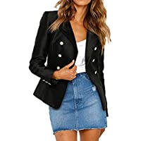 Damen Blazer Elegant klassisch Jacke Mantel Herbst Lange Ärmel Slim Blazer Arbeits Büromantel Outwear
