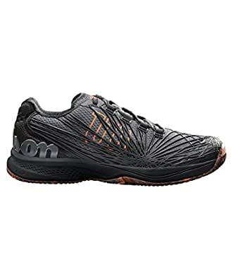 Wilson KAOS 2.0, Chaussures de Tennis Homme, Noir (Ebony/Black/Shocking Orange 000), 46 2/3 EU