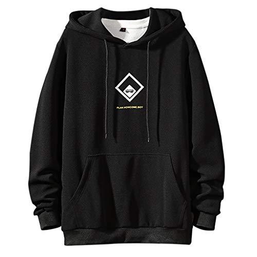 Heiß! Gedruckter Pullover für Männer, Herren Casual T-Shirt Mode Bedruckte Bluse Hoodie Langarm Top, M ~ 4XL -