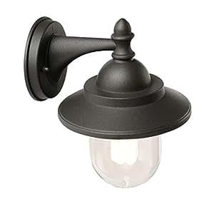 Applique in basso lampada da parete design classico per esterno grigio