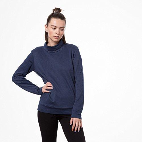 THOKKTHOKK Damen Sweatshirt Dunkelblau Bio Fair, Größe:XL - 3
