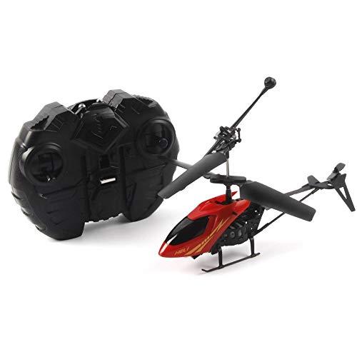 Eleveny rc 2ch mini elicottero radiocomandato aircraft micro 2 canali novità giocattoli regalo dei bambini del capretto (color : red)