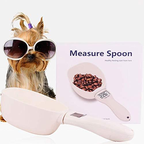 Todaytop Tierfutter-Messlöffel mit LCD-Display Hunde Katzenfutter Digitalwaage-Löffel zum Messen von Haustiernahrung, g/ml/Cup/FL.oz/oz Kann gemessen Werden