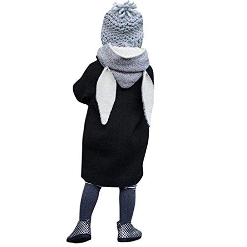 8 Lange Tees (Babykleidung,Sannysis Classic Kinder Kapuzen Sweatshirt Kids Hooded Sweat(1-8Jahre) (100, Schwarz))