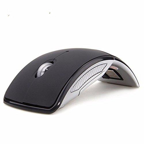Laser Mini Travel Mouse (Hehemb Kabellose Maus 2.4G Drahtlose Maus Computer Maus Folding Travel Notebook Stumm Maus Mini Maus USB-Receiver Für Notebooks Pc, Schwarz)