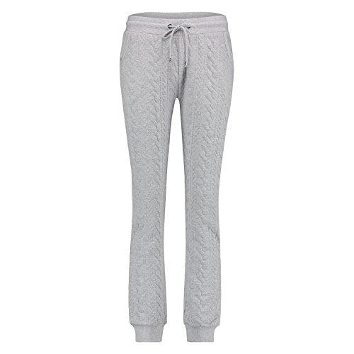 Hunkemöller Damen Long Cable Pants 114246 Grau XL