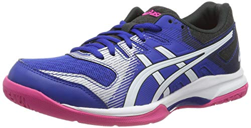 Asics Gel-Rocket 9, Scape per Sport Indoor Donna, Blu Blue/White 400, 39.5 EU