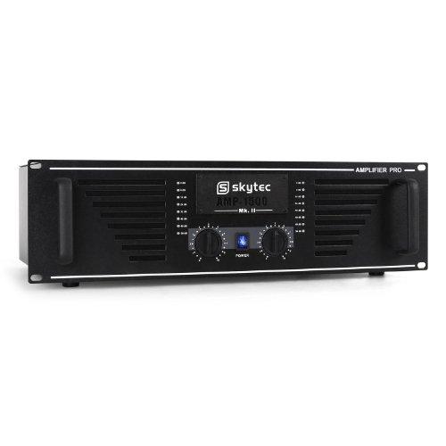 Skytec AMP-1500 PA Verstärker leistungsstarker 1500W PA Verstärker (2x 750W RMS, für bis 250 Personen, MOSFET-Technologie) - Power-amp-rack