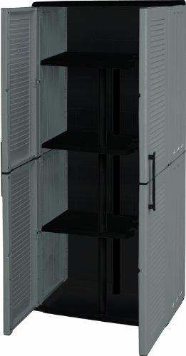 Art Plast E71/PS Gabinete De Plástico, Con Alta Portascope, Económico, Color Gris/Negro
