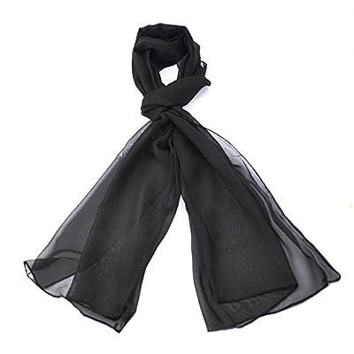 Classic Plain Chiffon Feel Scarf, Light weight Fabric, women lady Neck Scarf, Hijab