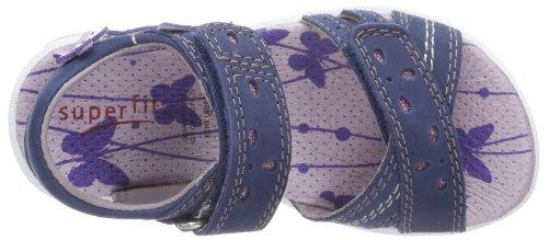 Superfit Kinder Schuhe Sandalen Mädchen Weite Mittel IV Emily 2-00133 Bleu - Blau (Indigo Kombi)