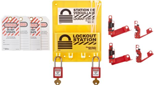 Master Lock Stromunterbrecher Lockout Center, Includes 2 Zenex Padlocks, gelb, 1
