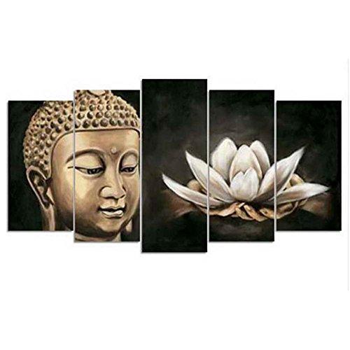 Sudook 5d diy diamond painting buddha like avatar cross stitch square diamonds full 3d diamante ricamo 5pcs/set per la decorazione domestica, color0069, 15x30x40x50cm