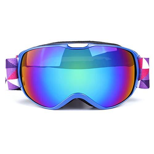 Sporzin Skibrille Kinder Anti-Nebe Skibrille Verspiegelt und Ski Goggles 100{7e0d2d300405d31dcdc0a3e79f1d192d934c51cf04fea0a47e266d7ed81708e9} UV400 Schutz-Snowboard Brille für Jungen Mädchen 3-16 Jahre Wintersportarten