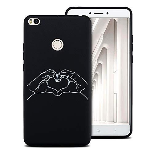 Caselover ES Funda Xiaomi MI MAX2, Cover Carcasa para Xiaomi MAX 2 Suave TPU Silicona Protectora Caso Ultra Delgado Flexible Gel Goma Espalda ParachoquesPhone Case Cover - El Amor 1
