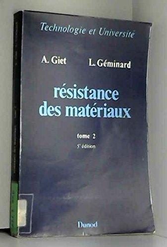 Résistance des matériaux, tome 2