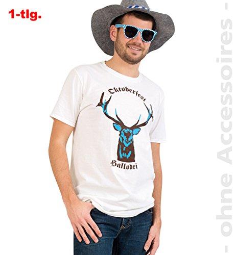 (Unbekannt Oktoberfest Shirt Kostüm Herren Hirsch Wiesen Shirt Herrenkostüm)