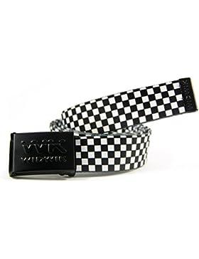 WK WIDWIK Cinturón Cuadros Negros Blancos, uno de los cintos más Punk de la marca Widwik