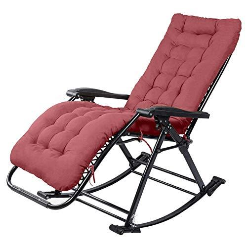 DQCHAIR Garten Schaukelstuhl Schwerelosigkeit Gartenliege Camping Outdoor Büro Portable Home Lounge Chair mit Wattepad Unterstützt 200 kg - Outdoor Chaise Lounge-set
