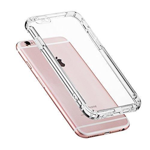 Hülle für iPhone 6/6s,NONZERS Transparent und Kristallklar-Premium Kratzfest Shockproof Weiche Silikon Schutzhülle TPU Bumper Case für iPhone 6/6s