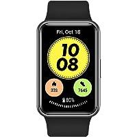 HUAWEI Watch FIT, Nouvelle Montre connectée, Ecran 1.64 Pouces,24/7 contrôle de la fréquence Cardiaque,Noir + HUAWEI…