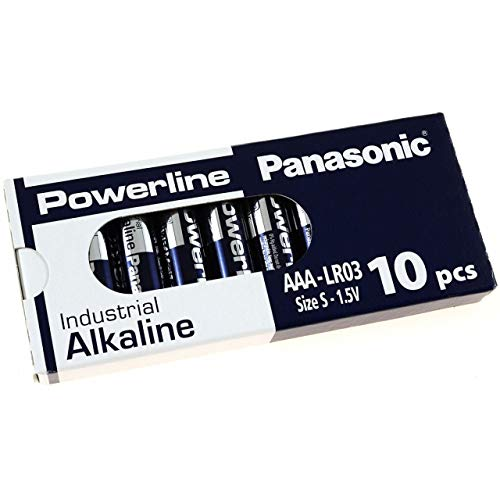 Panasonic Powerline Industrial Alkaline AAA LR03AD LR03 1,5V 10er Pack, Alkaline, 1,5V Panasonic Industrial Alkaline