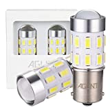 AGLINT 2X Ampoule P21W LED 24SMD Extremadamente Brillante 1156 BA15S Feux Arrière Voiture DRL Feu Recul Frein Lampe Blanc 6000K 12V 24V