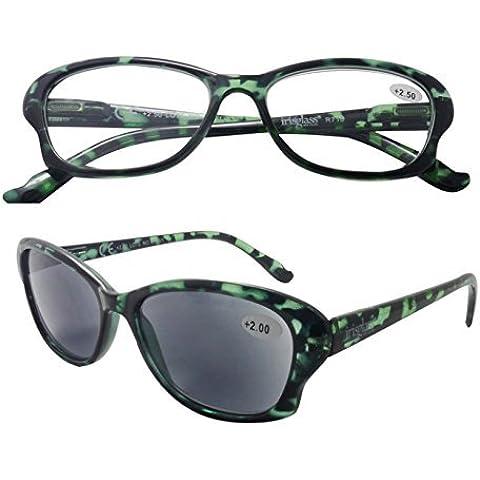IRIS GLASS/Gafas de Lectura/Duplo 2x1/ Mujer/Vision Interior y Exterior/Diotrias + 1,5