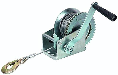 Newsbenessere.com 41es3tStdSL Argano verricello paranco manuale con cavo acciaio 10 mt 1 T 1000 Kg