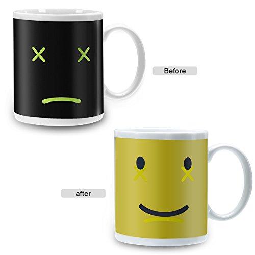 Incutex Color changing mug Tasse mit Thermoeffekt Farbwechseltasse - Smile