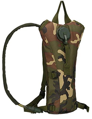 Menschwear 3L Hydration Pack Backpack Idratazione Sacca idrica Blu Water bag per Outdoor Attivita Cachi Camuffare 3
