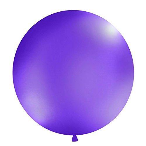 Simplydeko XXL Ballon 100cm | Riesenballon-Deko für Party, Garten und Hochzeit | Luftballons (Lavendel)