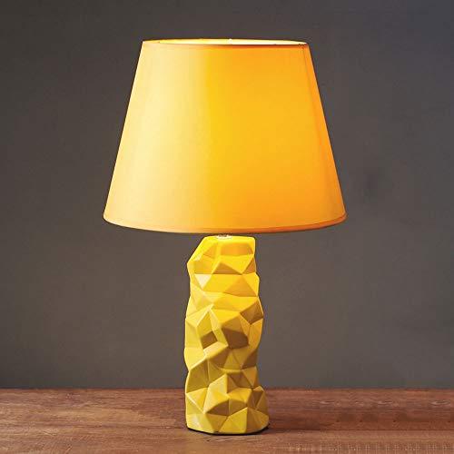 HS-01 Dekorative Tischlampe Home Schlafzimmer Nachttischlampe Kreative Mode Keramik Einfache Moderne Mode Warme Gelbe Tischlampe (Gelb Moderne Keramik-tischlampe)