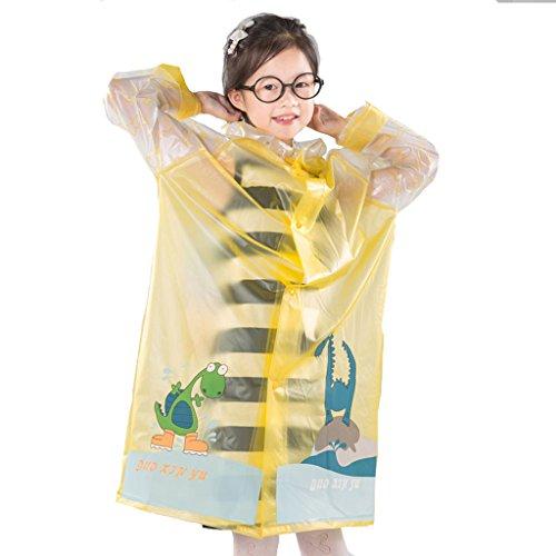 LAAN Kinder Regenmantel Kinder Regenmantel Leichte tragbare Wasserdichte Outdoor für Jungen Mädchen (Farbe : Gelb, größe : L)