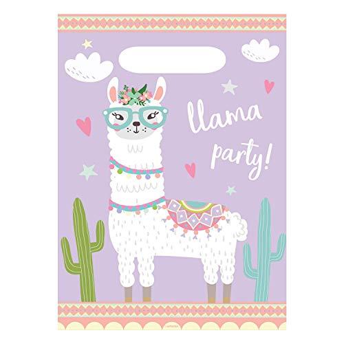8 Partytüten * Llama * für Kindergeburtstag und Motto-Party | Lama süß Anden Kinder Geburtstag Mottoparty Mitgebsel Geschenktüten Geschenke spuckendes Tier
