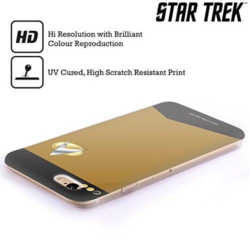 Ufficiale Star Trek Capitano Uniformi E Stemmi TNG Cover Morbida In Gel Per Apple iPhone 6 / 6s Tenente Comandante