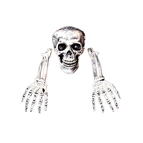 , Gusspower 2017 Kreativ 3 Stück Halloween Grausigkeit begraben Lebend Skelett Schädel Garten Hof Rasen Dekos (Leben Größe Skelett Halloween)